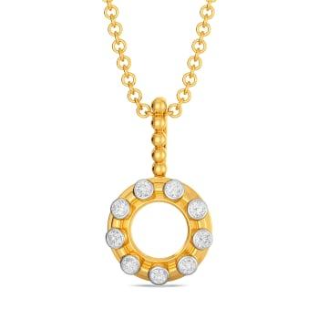 Hoop Loops Diamond Pendants