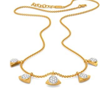 Triple Beats Diamond Necklaces