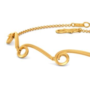 Loopy Bends Gold Bracelets