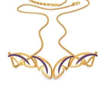 Violet Flutter Gold Necklaces