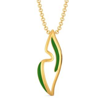 Green Preen Gold Pendants