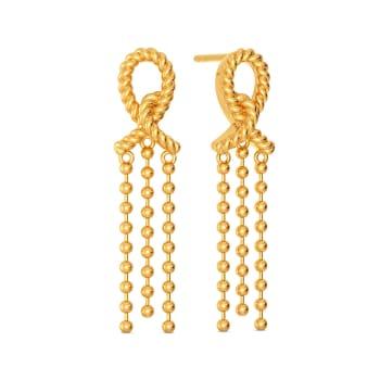 Flick A Fringe Gold Earrings