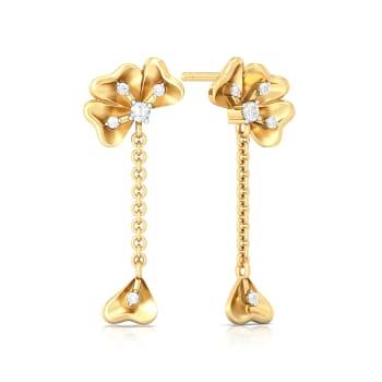 Fall Flowers Diamond Earrings