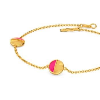Pink A Wink Gold Bracelets