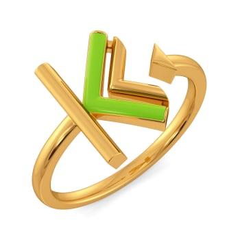 Kinky Greens Gold Rings
