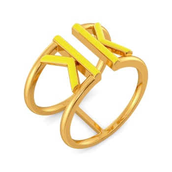 Knotty Hue Gold Rings