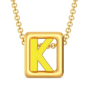 Knotty Hue Gold Pendants