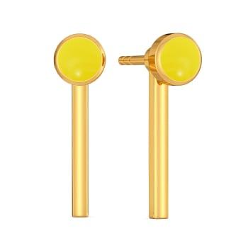 Ideally Lit Gold Earrings
