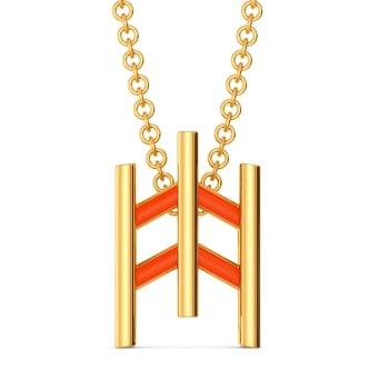 Happy Tangerine Gold Pendants