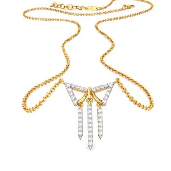 Trigon Frills Diamond Necklaces