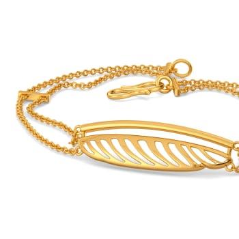 Disco Feathers Gold Bracelets