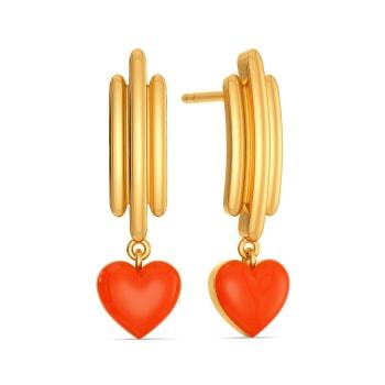 Zesty Neon Gold Earrings