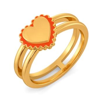 Colour Crush Gold Rings