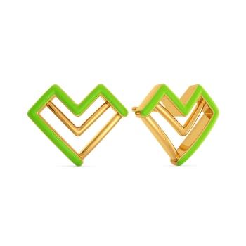 Love Pines Gold Earrings