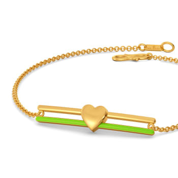 Look at Me Green Gold Bracelets