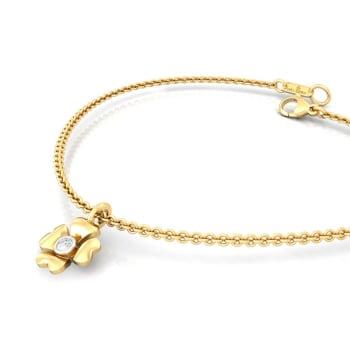 Four-petal Diamond Bracelets