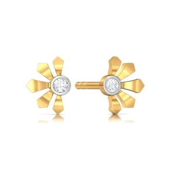 Greek lotus Diamond Earrings