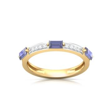 Depths of Blue Diamond Rings