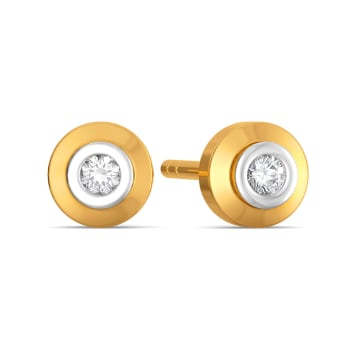 Diamond orb Diamond Earrings