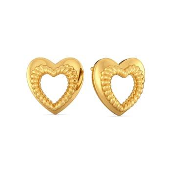 All Roped In Gold Earrings