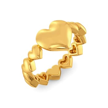 Club of Hearts Gold Rings