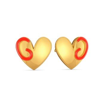Heart Apart Gold Earrings