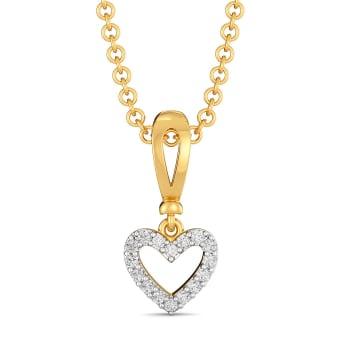 Knotty Hearts Diamond Pendants