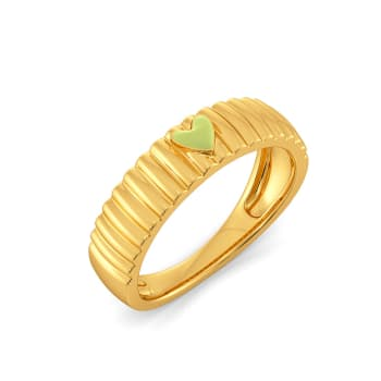 Love Buds Gold Rings