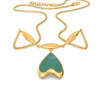 Seal the Teal Gold Necklaces