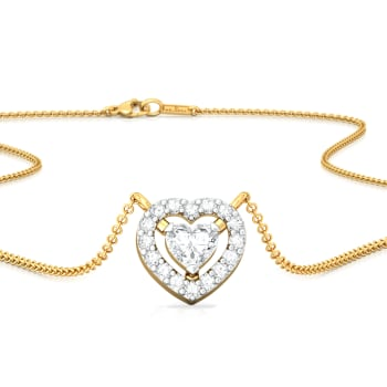 Ace of Hearts Diamond Necklaces