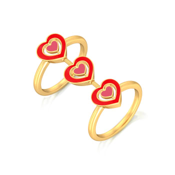 Heart-astic Gold Rings