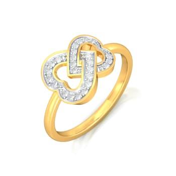 Two Hearts Diamond Rings
