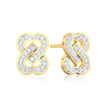 Two Hearts Diamond Earrings