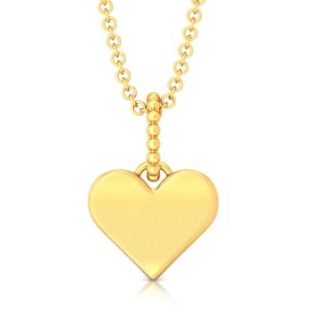 Love Me Tender Gold Pendants
