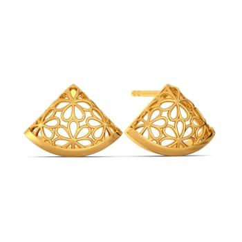 Slice of Lace Gold Earrings