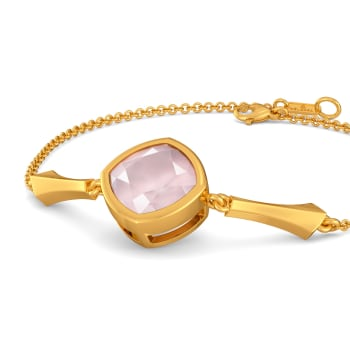 Pastel Pink Gemstone Bracelets