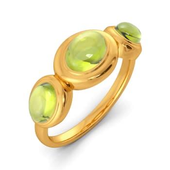 Green Groove Gemstone Rings