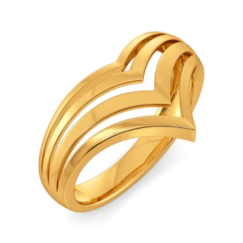 Quirky Picks Gold Rings