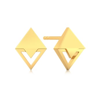 Patterns Gone Cray Gold Earrings