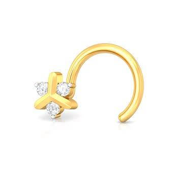 Pinwheel Diamond Nose Pins