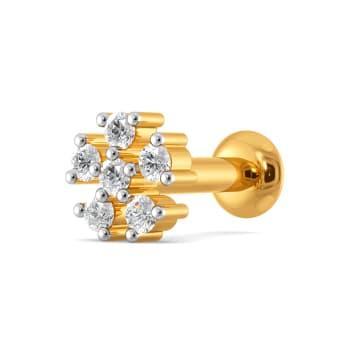 Floral Faerie Diamond Nose Pins
