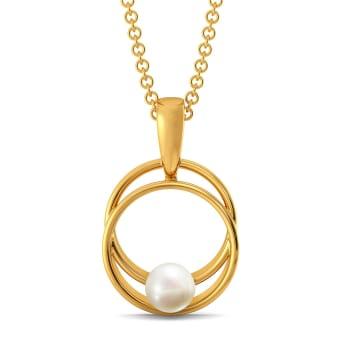 Pearl A Loop Gemstone Pendants