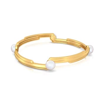 Pearl-fection Gemstone Bangles
