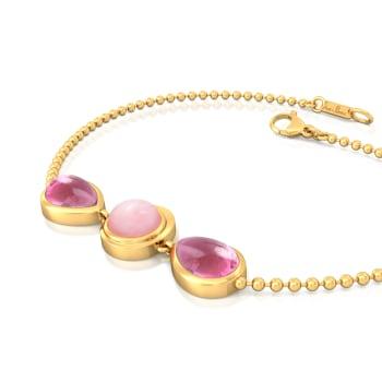 Tickle Me Pink Gemstone Bracelets