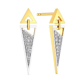 Tailored Power Diamond Earrings