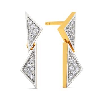 Sharp Edged Diamond Earrings