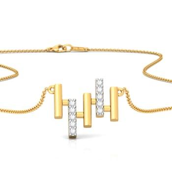 Bar Chart Diamond Necklaces