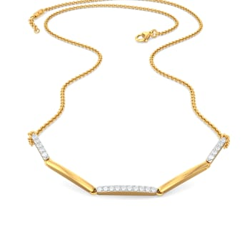 The Tripple Dash Diamond Necklaces