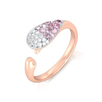 Pink Gouache Diamond Rings
