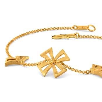 Bow Blooms Gold Bracelets